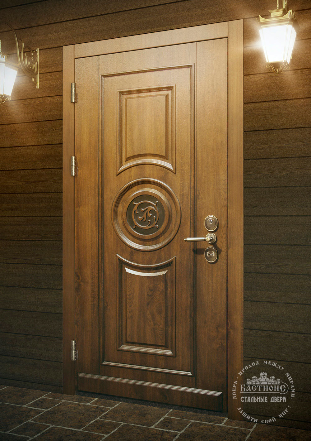 Дверь Бастион-с Оптима отделка шпон ПВХ