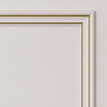 Двери Океан коллекция Дрезден цвет белый с золотом