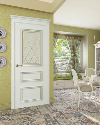 Межкомнатные двери Океан Дрезден-2 цвет матовый серый интерьер фото