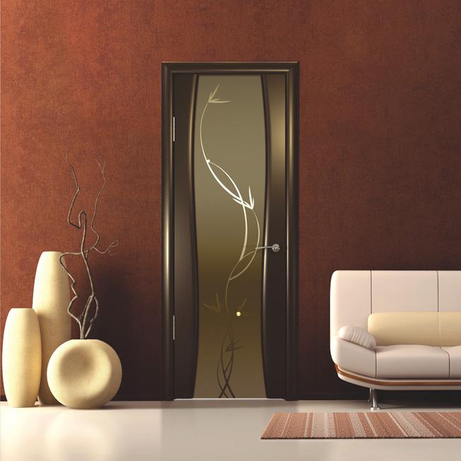 Двери Океан Glamour Шторм-3 шпон Венге фото интерьер