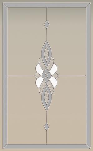 Двери Океан NeoClassica витраж Колос серебро фото