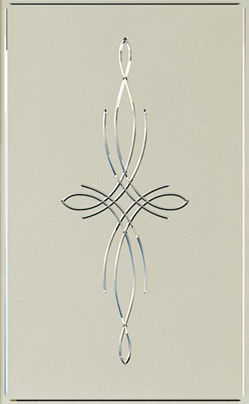 Двери Океан MILANO-1 стекло Агата белое фото