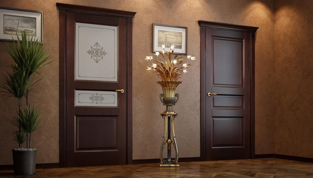 Ульяновские межкомнатые двери Океан дуб шоколадный фото интерьер