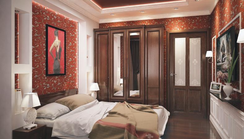 Ульяновские деревянные двери Океан OPTIMA шпон дуб шоколад фото интерьер