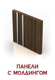 ходные двери Бастион отделка с молдингом ПВХ фото