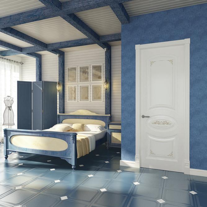 Межкомнатные двери Perfecto Porte коллекция PROVENCE-1 Flora фото интерьер