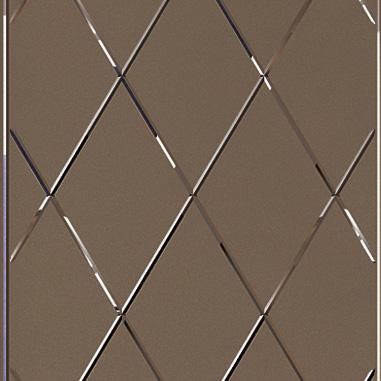 Двери Океан коллекция Дрезден стекло Ромб бронза