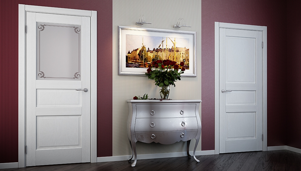 Белые двери Волховец Galant интерьер фото